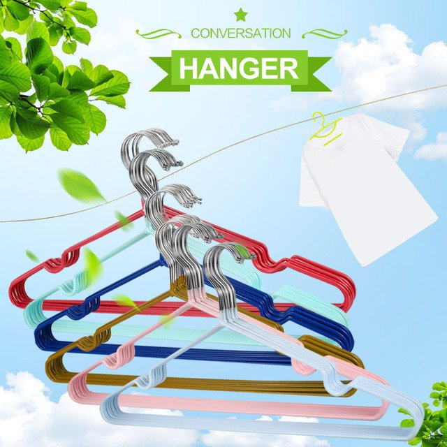 Practical Hook Coat Hanger Clothes Rack 10PCS Metal Home Tools Device Holder