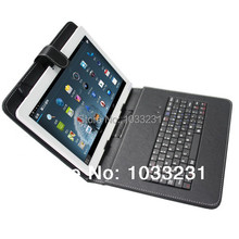 "Free shipping Micro USB Leather Case English Russian Keyboard for all 7"",8"",9"",9.7"",10.1""inch Tablet PC"