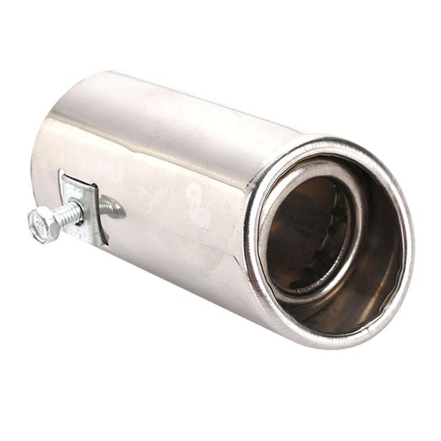 Car Tail Pipe Diameter 51-51mm Stainless Steel Muffler Tip Pipe Car Accessory Exhaust Tail Exhaust