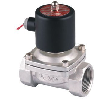 Free Shipping 2PCS 40mm Stainless Steel Normally Closed 2 Way VITON Oil Acid Solenoid Valve AC220V 1.5'' Ports