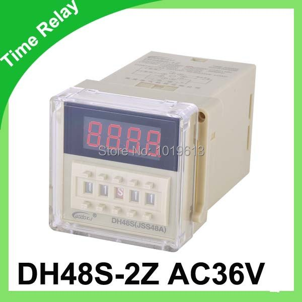 AC 36V digital time relay cycle time relay delay 0.1s~9.9s dh48s-2z
