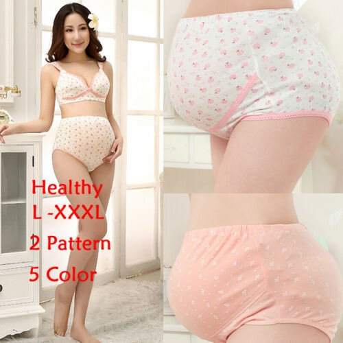 Pregnancy Underwear Intimates Women's Cotton Pregnant High Waist Briefs Stretch Underwear Maternity Panties Knickers Size L-3XL