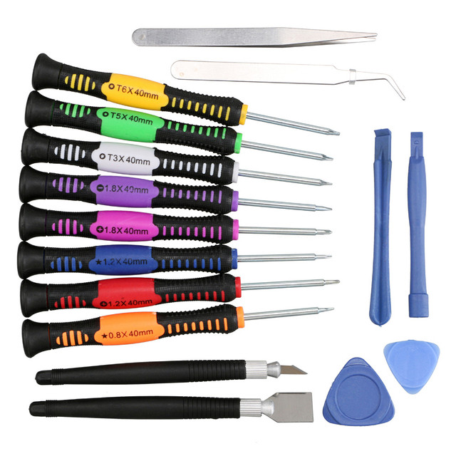 Russian seller !5pack a set   Lowest price! 16 pcs a set  Mobile Phone Repair Tool Screwdriver for Mobile Phone
