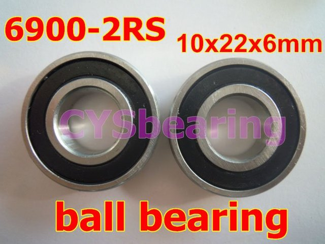 stainless steel 440 SS6900 S6900 2RS 61900 6900 6900 2RS 10X22X6 mm radial shaft deep groove ball bearing