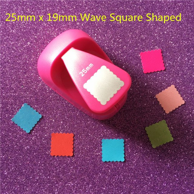 Free Shipping Wave square shaped save power paper/eva craft punch Scrapbook Handmade punchers DIY hole punches biscuits puncher