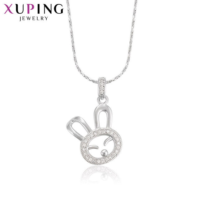 Xuping Cute Fashion Animal Shaped Pendant Rhodium Color Plated Jewelry for Women Mother's Day Gift M34-30073