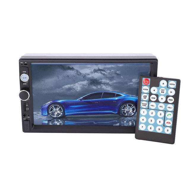 HD 7 Inches Double 2Din Car Auto Bluetooth Touch Screen MP5 Player Waterproof