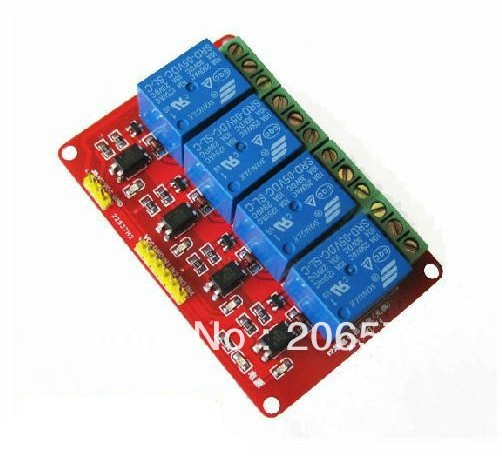 4 road relay module with opto-isolator 5V high and low electrical level trigger