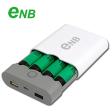 Original Portable ENB Power Bank 18650 x 4 External Battery Charger Box Case, For Xiaomi iphone Ipad Samsung Sony, Free Shipping