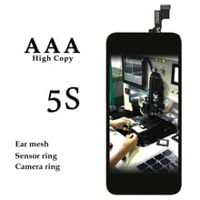 10pcs For iPhone 5S LCD Display 4 Inch White Black Touch Screen Panel Digitizer Assembly Phone Replacement Parts For iPhone 5 S