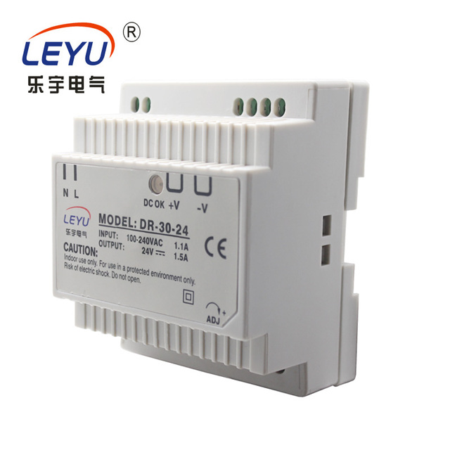 Zhejiang supplier wholesale price 30w din rail led driver series ac to dc single output 12v  switching power supply