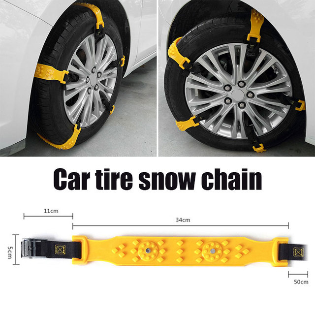 1Pc TPU for Truck SUV Anti-Skid Chains Mud Wheel Snow Chain Accessories Roadway Safety Emergency Snow Tire Belt Durable