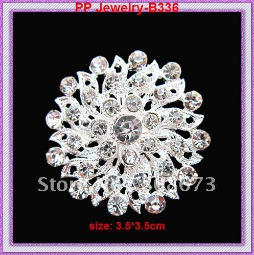 DHL Free shipping!Hot sale silver plated Amazing Small crystal brooch pin!! Wedding Bridal Bouquet Flower Brooch