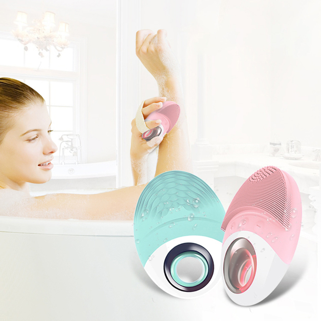 Face Washing Machine Silicone Brush Head Soft Delicate Deep Cleaning Pore Cleaner Facial Body Massage USB Skin Care Beauty  Tool