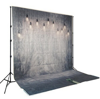 HUAYI Hot Sales Background Gray Concrete Wall With Lights Backdrop Photography Studio Newborn Drop D-7967