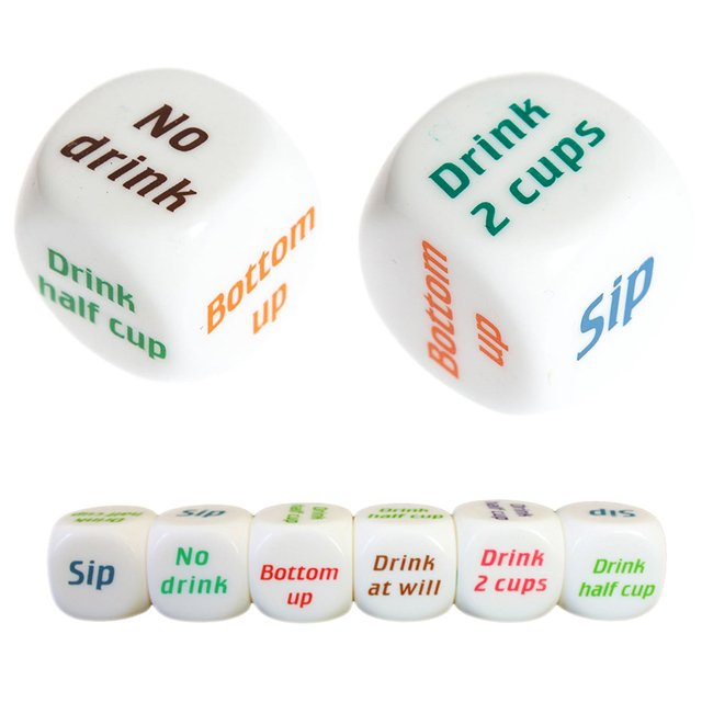 1pc Drinking Wine Mora English Dice Games Gambling Adult Sex Game Lovers Bar Party Pub Drink Decider Fun Toy