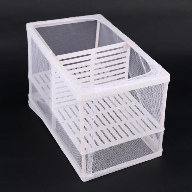 NEW A Set of Aquarium Fry Baby Fish Tank Guppy Breeding Breeder Trap Box Nursery Hatchery Net
