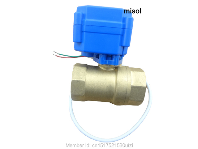 1pcs motorized ball valve DN25 (reduce port), 2 way,24V electrical valve