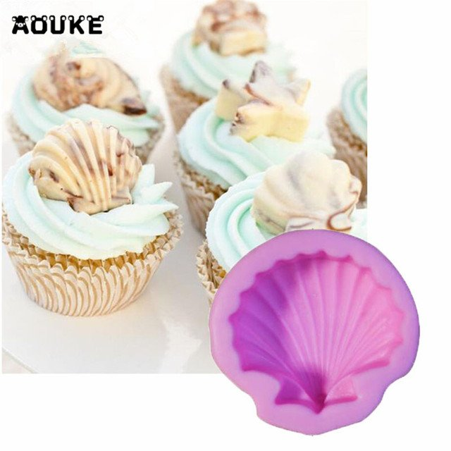 Lovely Shell 3D Fondant Cake Silicone Mold Cake Mold Pastry Biscuits Mould Chocolate Molds Ice Cube Soap Molds DIY Baking Tools