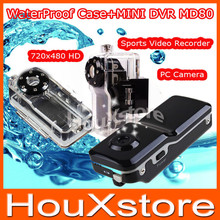 MD80+WaterProof Case Mini Camcorder Camera Sports Video Camera Hot Selling Mini DVR Camera & Mini DV Free Shipping