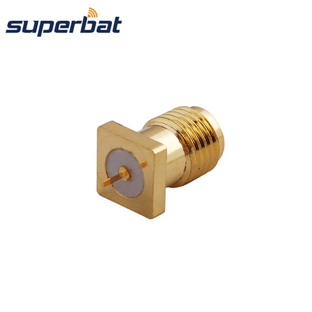 Superbat SMA thru hole Panel Mount Jack with Tab Terminal RF Coaxial Connector