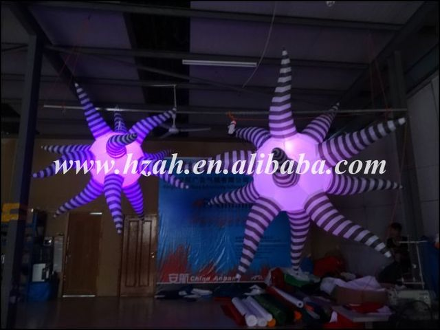 Hot Sale Hanging Decorations Inflatable Star /Inflatable 3D Light Star