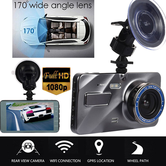 Car DVR Auto On/Off Parking Monitor Motion Detection Durable Automobile Car Camera Vehicle HD1080P 4 Inch 170 Degrees