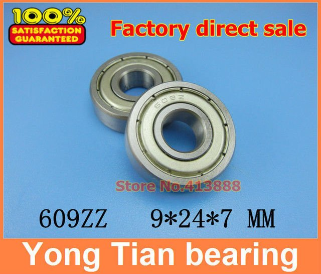 Factory direct sale 609 609ZZ 609-2RS 609Z 80019 9*24*7 mm High quality deep groove ball bearing  free shipping quality