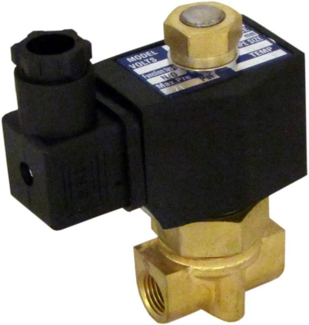 "Free Shipping 5PCS 12v 1/4"" NPT NC 2-way Brass NBR Solenoid Valve Air Water DIN Connector"