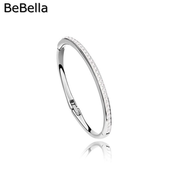 BeBella 1800050 Crystal thin bangle made with Czech crystals for women girls Christmas gift