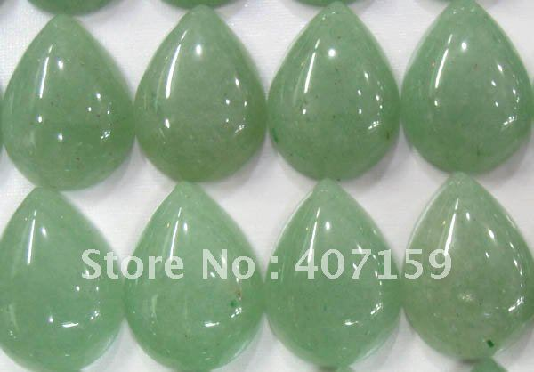 13x18mm Teardrop Green Aventurine CAB Cabochon Gemstone Jewelry Charms Beads for Rings Pendants Earrings Wholesale Free Shipping