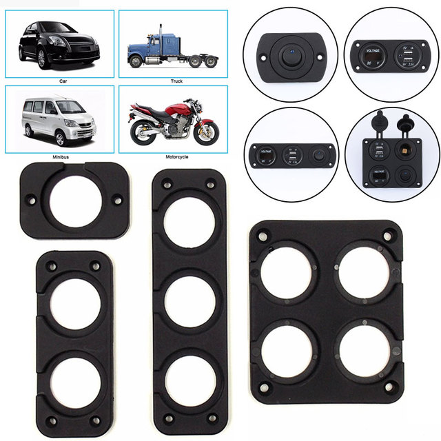 Vehemo Cars Motocycles Panel Base Composite Panel Switch Durable Female Cigarette Lighter Indoor Modified Panel Modification