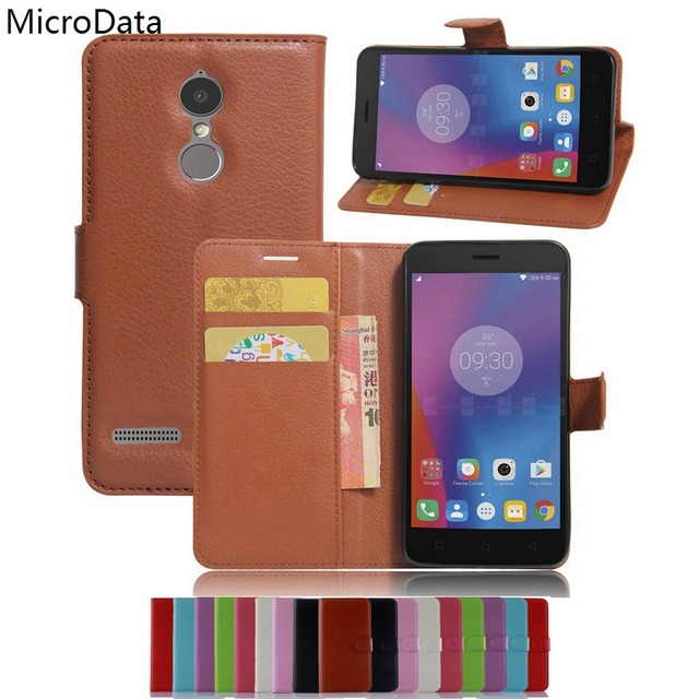 MicroData Luxury PU Leather Flip Case For Lenovo Vibe K6 K6 Power K33a42 5.0 inch Wallet Stand Leather Case Cover On K6 K6 Power