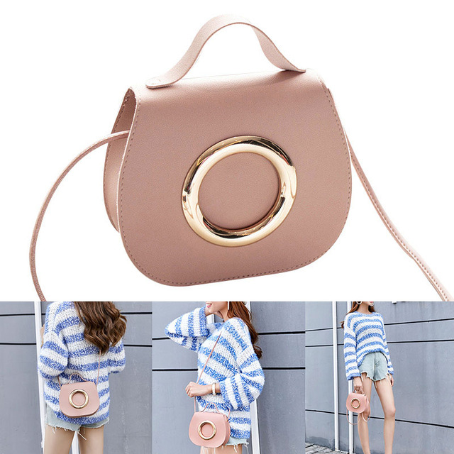 Women Solid Color Crossbody Bags Simple PU Satchel Messenger Bag for Mobile Phone Best Sale-WT