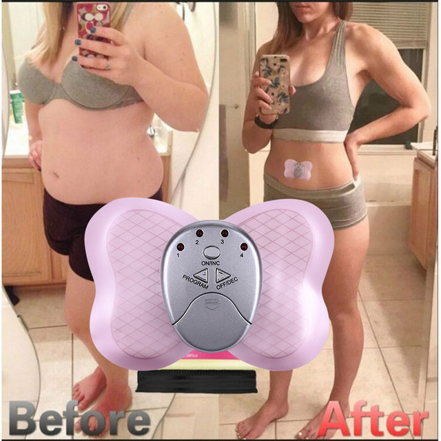 Fitness Treatment Massager electric Equipment Abdominal Muscle Trainer 4 Modes Workout Abdominal fat Slimming massage Post