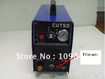 2012 pilot arc inverter plasma cutter CUT50 with 5 sets consumables  shock listed!!!