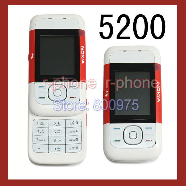 Original NOKIA 5200 Mobile Phone GSM Tri-Band Unlocked 5200 Phone Red & Gift