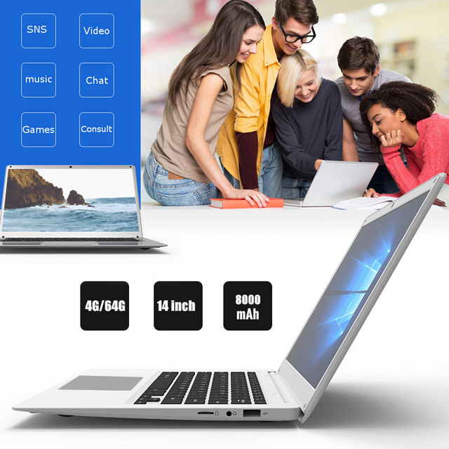 Ultrathin Laptop Wifi Z8350 Computer Music Durable Notebook Video