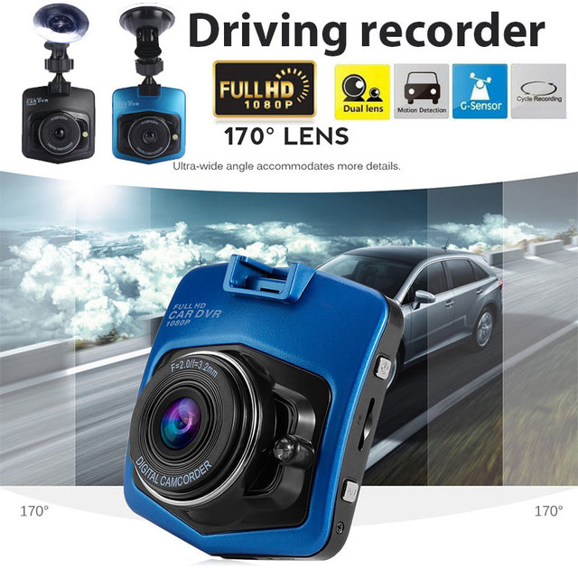 Dash Cam Automobile G-Gensor Loop Recording Parking Monitor Car Camera Motion Detection with Card Reader 170 Degrees