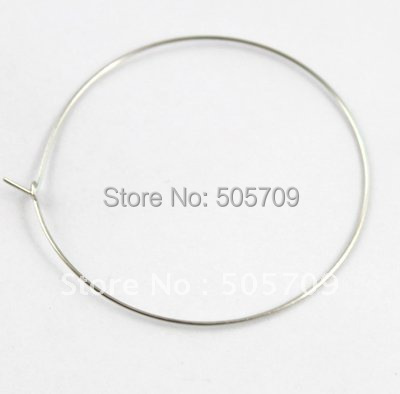 1500pcs Wine Glass Charm Hoops Wires 50mm #20583