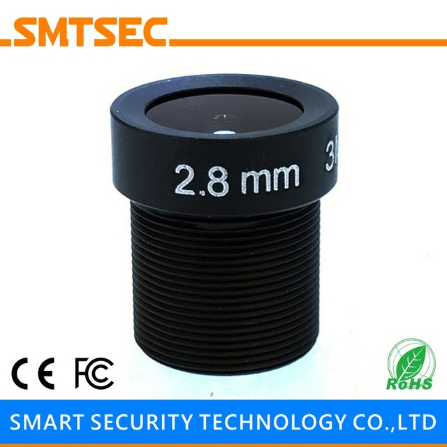 """SMTSEC SL-2820BMP 1/2.5"""" 2.8mm F2.0 115 Degrees Wide Angle 3MP M12*0.5 Mount Board Lens for CCTV IP Security Camera"""