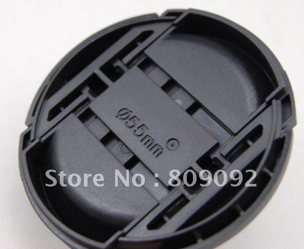 55mm Dustproof Snap-On Front Lens Cover Cap for Nikon