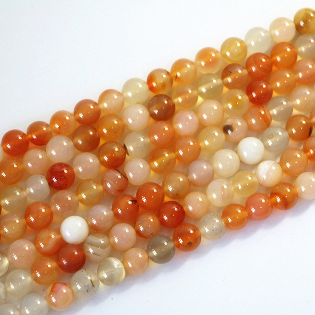 Natural stone carnelian onyx agat gouache stone 6mm 8mm 10mm 12mm round loose beads women jewelry making findings 15inch A41