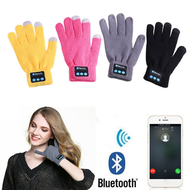 Bluetooth Talking Gloves with Stereo Microphone Calling Talking Gloves Music Gloves Speaker Warm Winter Bluetooth