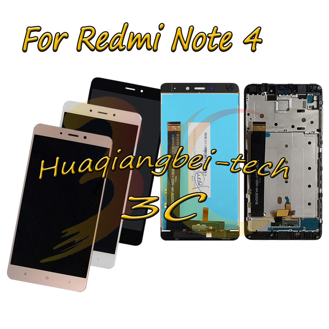 For Xiaomi Hongmi Note 4 / Red Rise Note 4 Full LCD DIsplay + Touch Screen Digitizer Assembly With Frame For Xiaomi Redmi Note 4