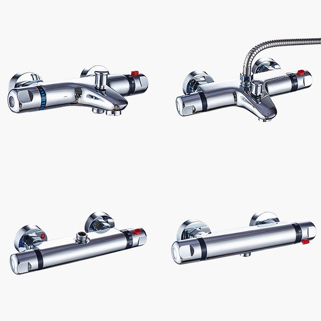 bathroom Thermostatic faucet,Concealed brass Thermostatic shower mixer valve,Solar mixing valve,Free Shipping J14404
