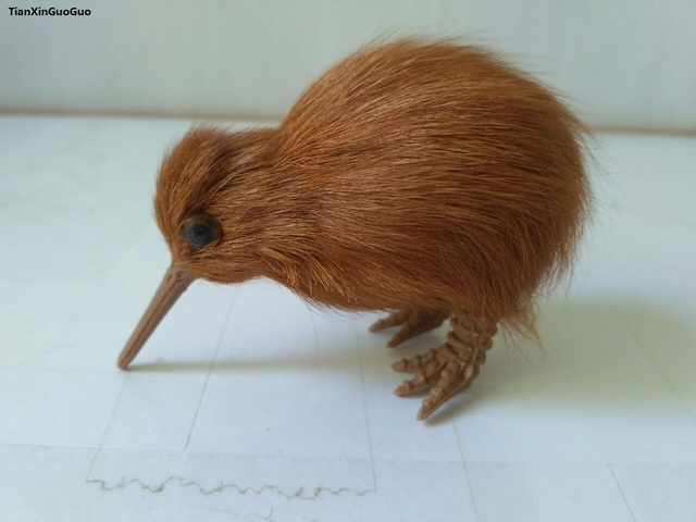 simulation kiwi bird hard model prop mini 9x6cm polyethylene&furs handicraft decoration gift s1608