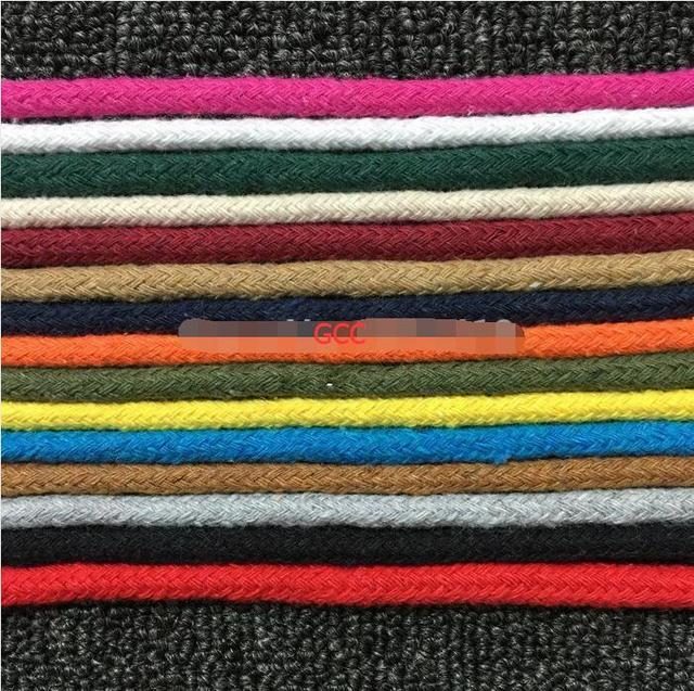 6mm 50M/Lot Pure Cotton Core-spun Cords 15 Color Woven Cotton Rope String For DIY Bag Drawstring Bags Accessory Binding Craft