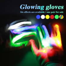 Flashing Finger LED Light Gloves Creative Glow DJ Disco Fun Home Holiday for Party Festival