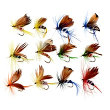 Good deal 2016 New 12x Lots Fishing Lures Dry Fly Fishing Tackle Butterfly Barb Single Hooks Useful Hot Sale Leurre Souple